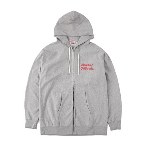 21ss-us-cotton-zip-hood-script-logo-sweat-gy-top